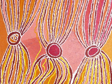 A guided visit of the Aboriginal Art exhibition at the AGNSW with Solenne Ducos-Lamotte