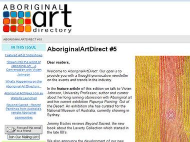 "Aboriginal Art Direct #5: ""Drawn into the world of Aboriginal Art"" - A Conversation with Vivien Johnson"