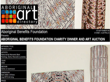 Aboriginal Benefits Foundation Charity Dinner and ART Auction