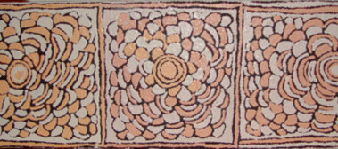 Area: Claypan site of WaranumaThis painting depicts designs associated with the claypan site of Watanuma