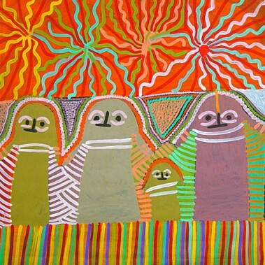 Athamareny StoryThere is a great deal of confusion amongst Aboriginal art collectors surrounding the identities of Angelina Ngal(e) and Angelina Pwerl(e). They are