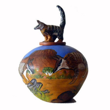 BandicootMany of the Hermannsburg potters are descendants of Albert Namatjira and influenced by his use of modern style and deep connection to the land.  Hermannsburg potters continue this tradition in their pots