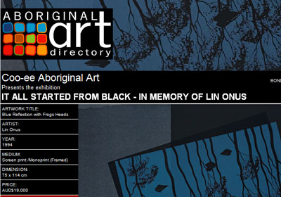 Coo-ee Aboriginal Art presents It All Started from Black - In Memory of Lin Onus