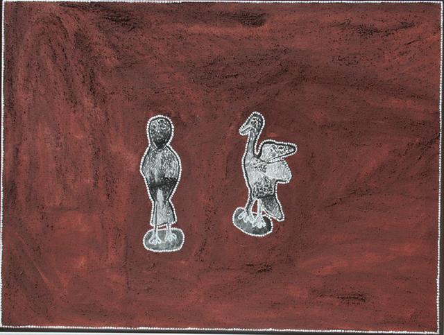 Dumbunji and Warmun - The Owl and the ChickenhawkFreddie Timms (Ngarrmaliny) was born circa 1946 at Ngarrmaliny (Police Hole)