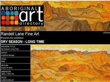 Exhibition 17 October 08: Randell Lane Fine Art Gallery presents Dry Season - Long Time