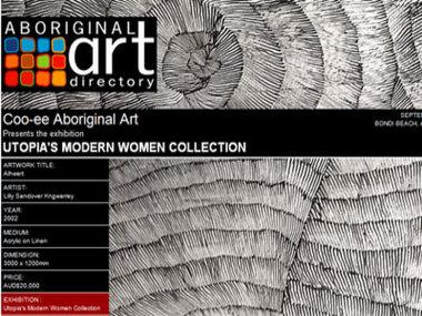 Exhibition September 08: Coo-ee Aboriginal Art presents Utopia's Modern Women Collection