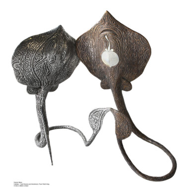 GubukaThe sculpture depicts two species of Stingray