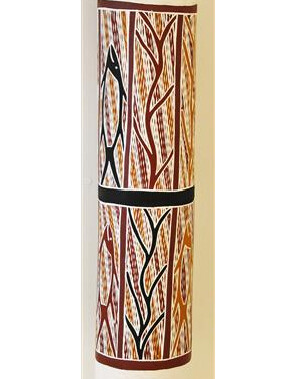 Hollow LogMade from Stringybark tree and decorated by clan designs