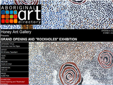 Honey Ant Gallery presents their Gallery Opening and Rockholes Exhibition