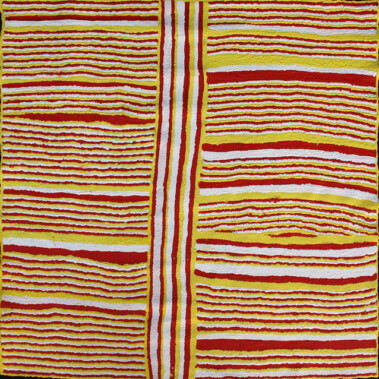 Inma Walka - Women's Ceremonial PaintingIn this painting Imiyari depicts Inma Walka (designs relating to Inma - ceremony). These designs are painted on the chest