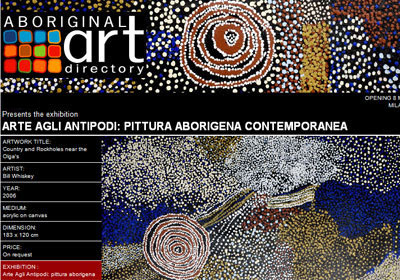 Isarte presents Arte Agli Antipodi: pittura aborigena contemporanea