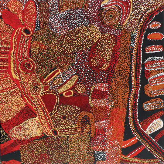 Kalaya TjukurpaThis artwork was part of a special slideshow feature for the fundraising auction Ochre: Supporting Indigenous Health.