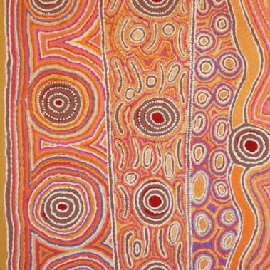 Lappi Lappi Jukurrpa (Lappi Lappi Dreaming)The subject of this work is Lappi Lappi