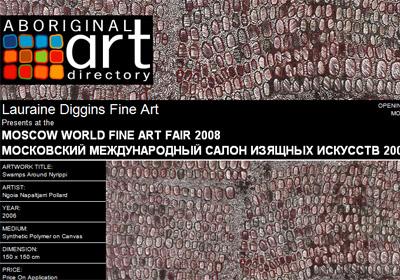 Lauraine Diggins Fine Art presents at the Moscow World Fine Art Fair 2008
