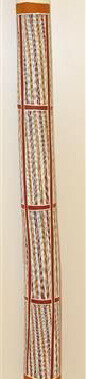 Lorrkon 197213Made from Stringybark tree and decorated by clan designs