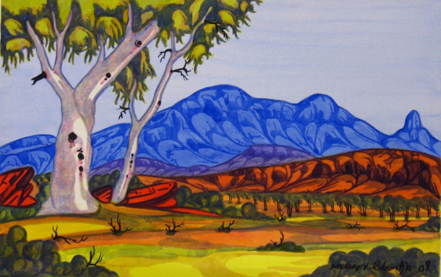 Mount Sonder NTMervyn was born at the Telegraph Station in Alice Springs. His mother