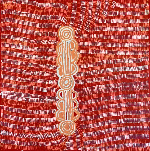 Ngurlu Jukurrpa (Native Seed Dreaming)Nakamarra/Napurrurla women and Jakamarra/Jupurrurla men. The Jukurrpa is associated with a place called Jaralypari