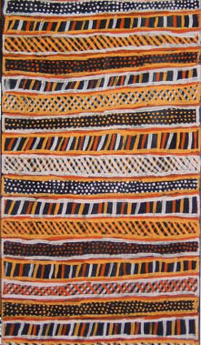 NullParlini Jilamara. This is olden days painting. Long ago in the early days we put Yalinga (red ochre)