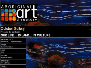 October Gallery presents Our Life.... is Land.... is Culture
