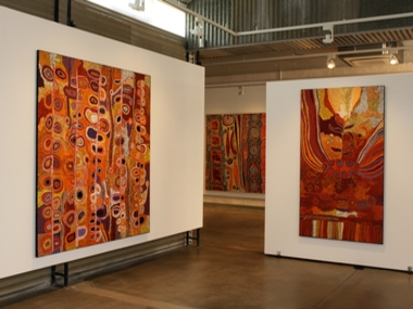 RED NUMBERS 'AT THE HEART OF ART'