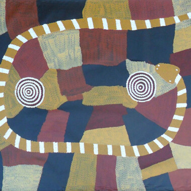Snake DreamingNote: This is one of a small number of artworks available by the original group of Papunya men
