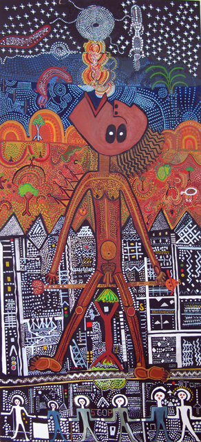 Tightrope walkingVCA Art Collection the University of Melbourne Gift of the artist 1980 © Courtesy Trevor Nickolls