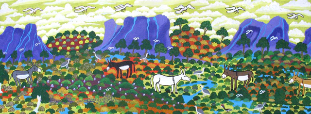 Titjikala WayDoris has painted the countryside around Titjikala where she has lived for over 20 years.