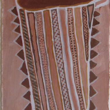 "Tunga""Pumpuni Jilamara - This means good painting in the early days. Tunga for basket"