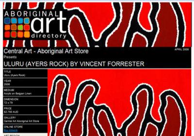 Uluru (Ayers Rock) by Vincent Forrester