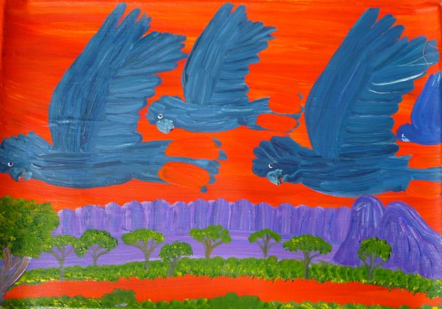 UntitledNote: This is one of a small number of artworks available by the original group of Papunya men