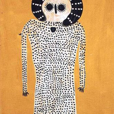 WandjinaJack has painted the Wandjina dreaming that is part of the cultural heritage of the Ngarinyin people.