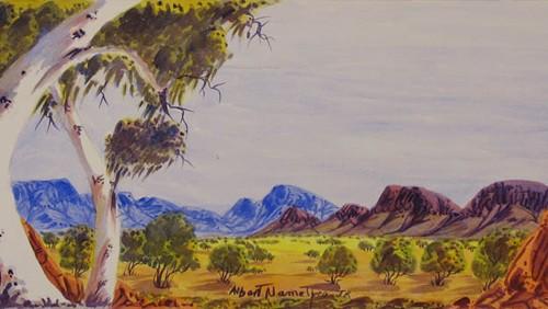 West MacDonnell Ranges NTAlbert is a Grandson of Albert Namatjira. His Father is Oscar Namatjira