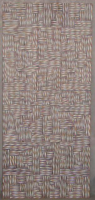 YalaaraThis artwork received a NATSIAA commendation in 2007. It is a contemporary representation of Banduk's family's artwork design.