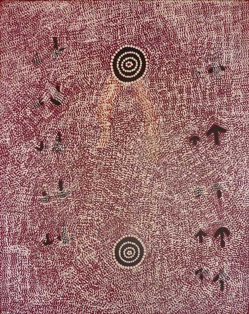 Yankirri Jukurrpa (Emu Dreaming) – NgarlikurlanguThis particular site of the Yankirri Jukurrpa