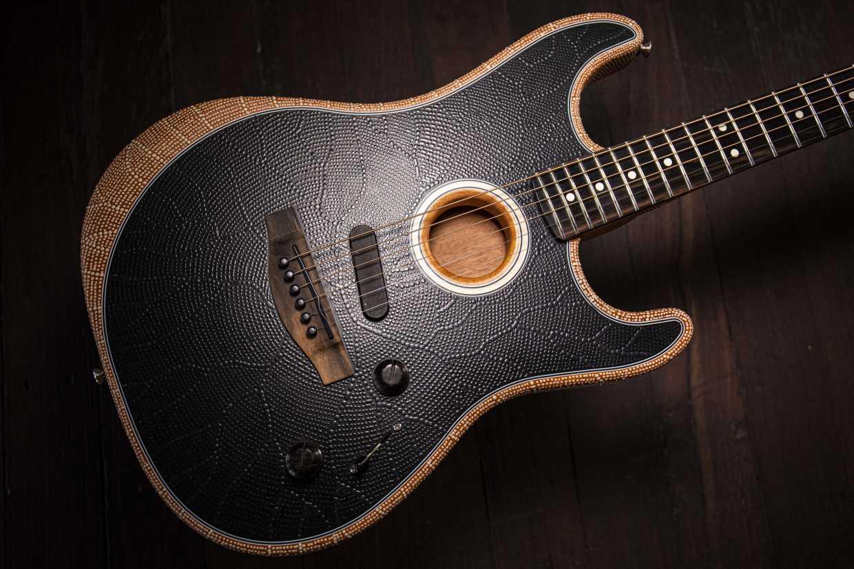 Fender Guitar painted by Niah McLeod