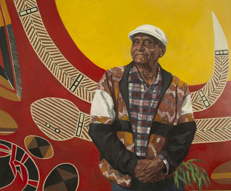 Christine Wrest-Smith, Portrait of Uncle Herb Patten at the Aboriginal Advancement League